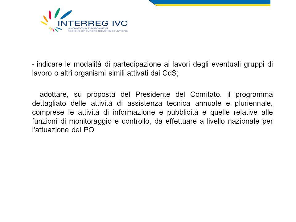 Attività svolte dal CN Al fine di garantire efficacia ed efficienza del PO INTERREG IVC: - dal 12 ottobre 2007 è stato reso operativo un account di posta elettronica (interregIVC@regcal.it).