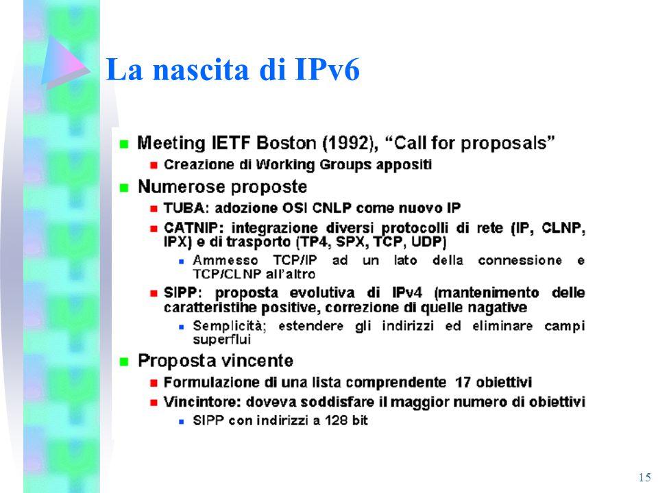 15 La nascita di IPv6