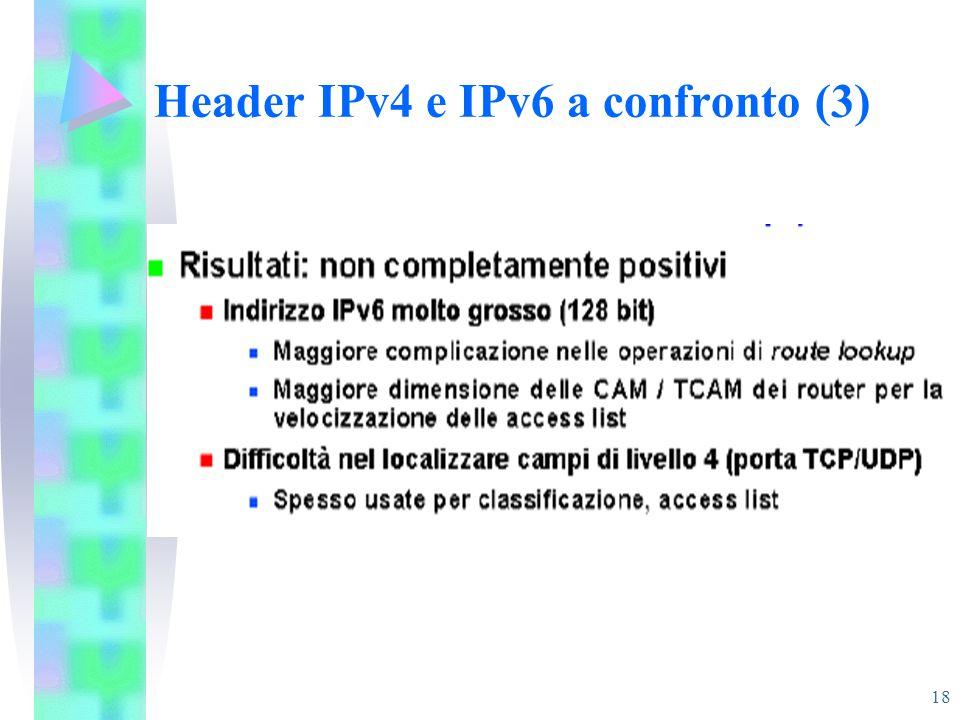18 Header IPv4 e IPv6 a confronto (3)