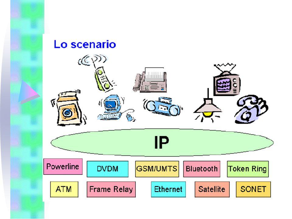 13 Supporto di nuovi servizi: Mobilita' (2) Portabilita' implica Raggiungibilita' Problema duale rispetto al punto precedente Permette all'host mobile di essere raggiunto sempre allo stesso indirizzo ufficiale Ammette una interazione di tipo server da parte del client remoto Puo' avere maggiori requisiti di sicurezza (protezione dei dati in transito) Soluzione: Mobile IP (RFC 2002).