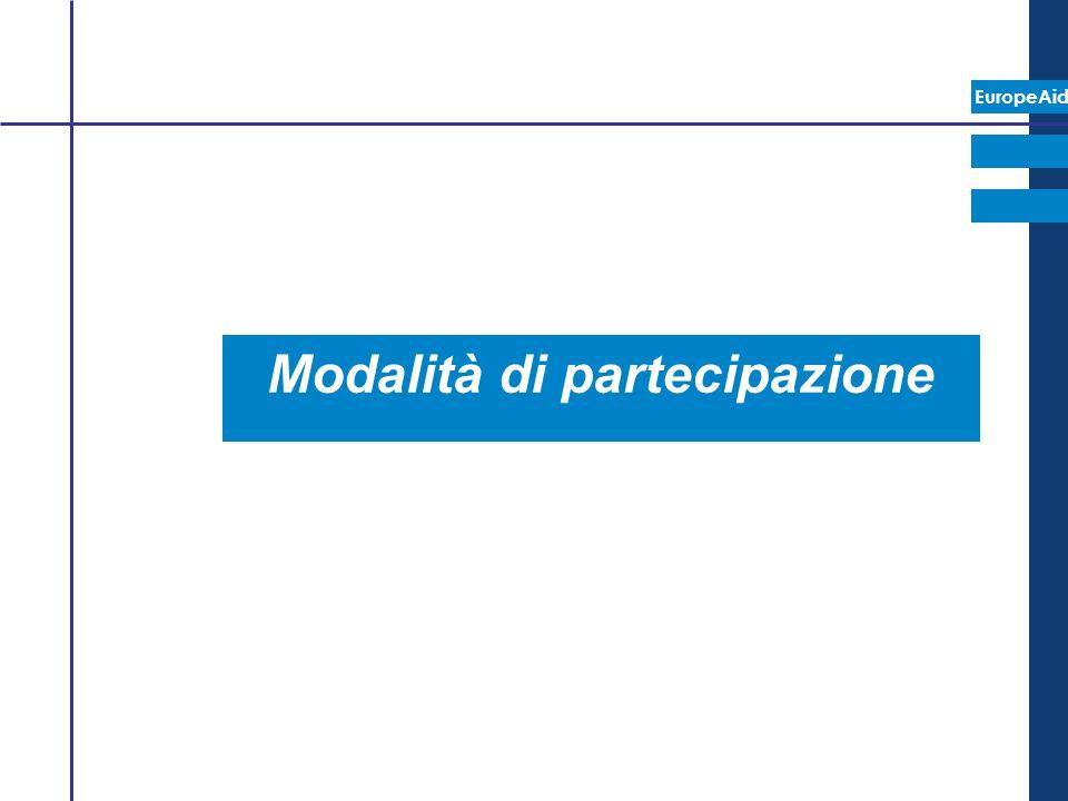 EuropeAid Modalità di partecipazione