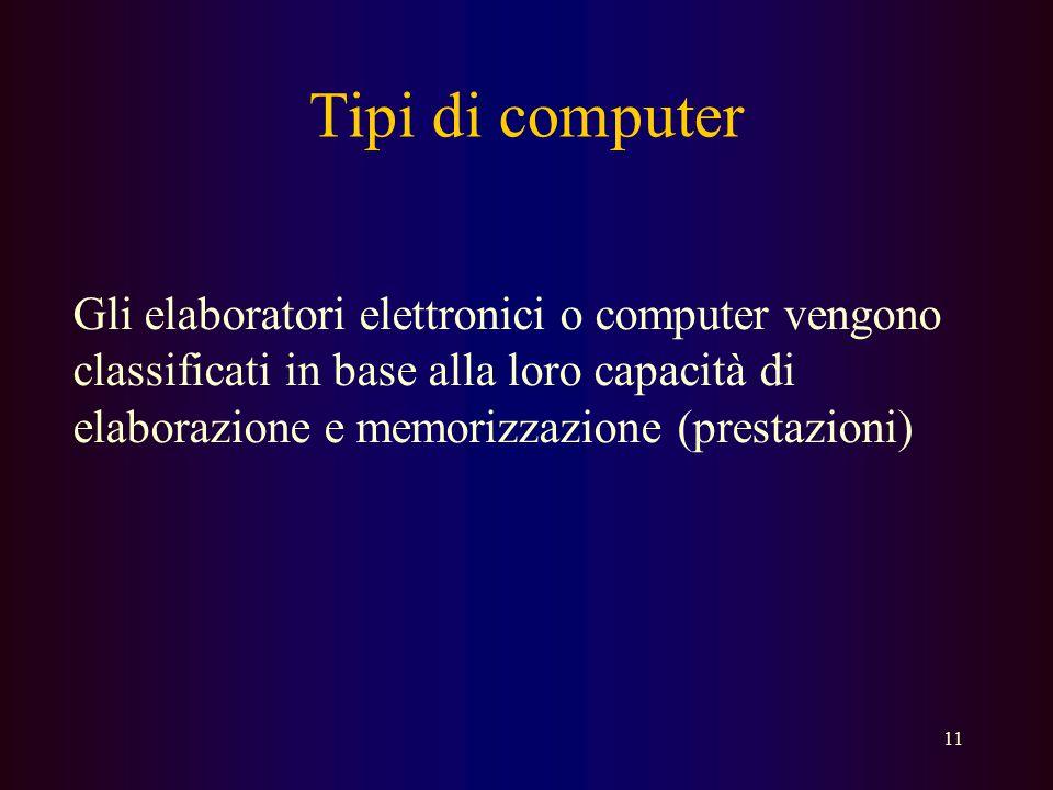 10 Software Con questo termine viene individuato tutto ciò che non è elemento fisico; i Programmi che si utilizzano con l'elaboratore  Un programma è