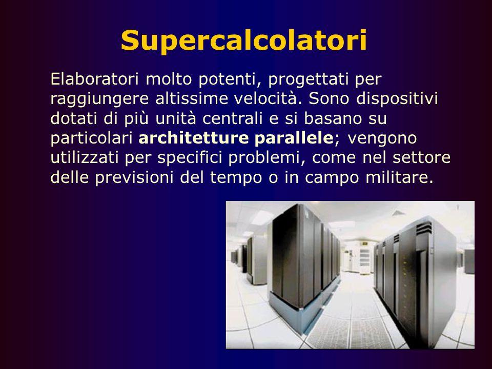 15 Terminali Posti di lavoro privi di capacità di calcolo autonoma; si differenziano dai PC che, connessi in un sistema complesso tipico delle archite