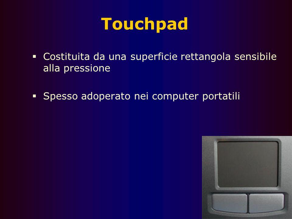 68 Trackball  Ha le stesse funzionalità del mouse  Una sfera viene adoperata per muovere il puntatore  Adoperato per esigenza di spazio o ergonomic