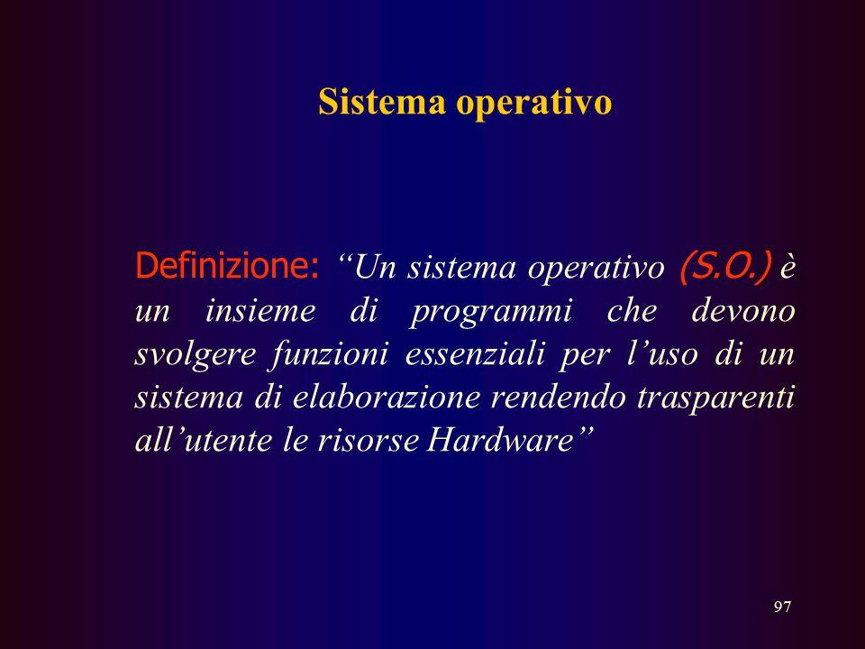 96...software La diffusione di massa dei p.c. limitata dapprima per la difficoltà legata alle interfacce testuali si è risvegliata grazie all'introduz
