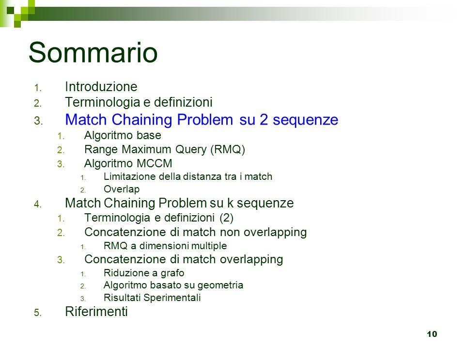 10 Sommario 1.Introduzione 2. Terminologia e definizioni 3.