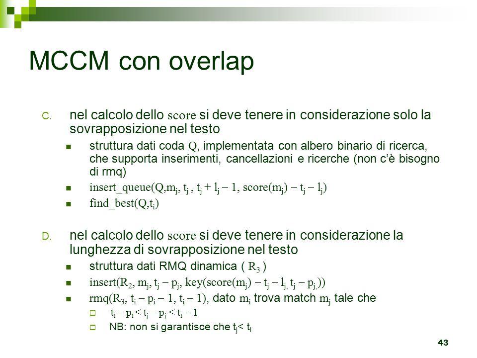 43 MCCM con overlap C.