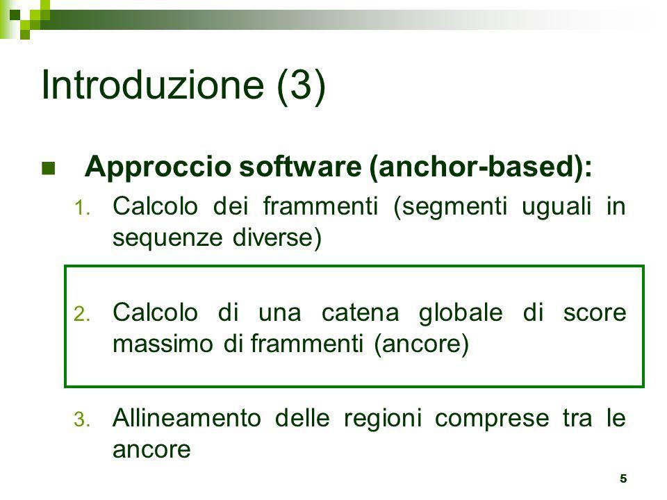 5 Introduzione (3) Approccio software (anchor-based): 1.