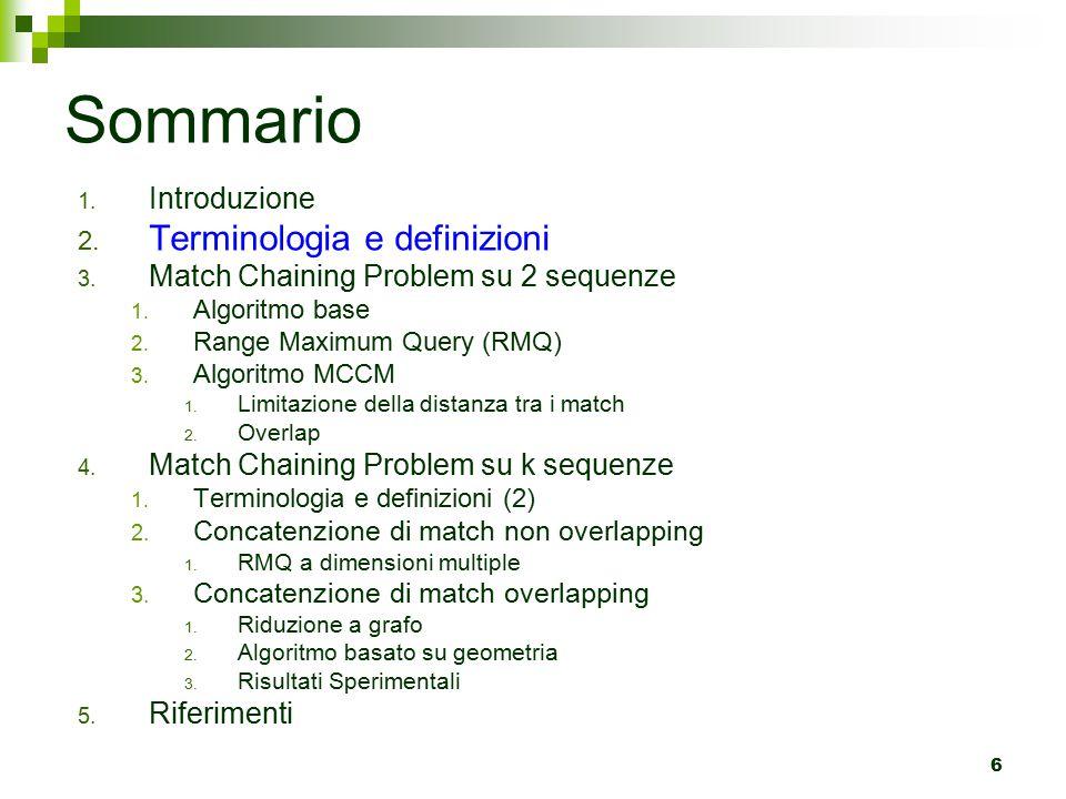 6 Sommario 1.Introduzione 2. Terminologia e definizioni 3.