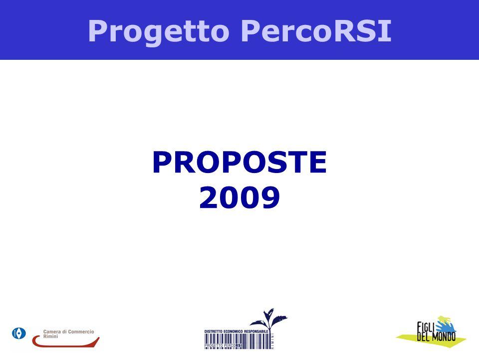 Progetto PercoRSI PROPOSTE 2009