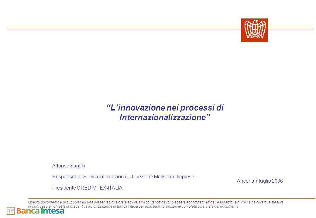 12 - Contenuti - Contenuti Il contesto competitivo delle PMI I pilastri dell'offerta di Banca Intesa Intesa Nova Intesa Senza Confini Intesa Brand Intesa Basilea Intesa Eurodesk
