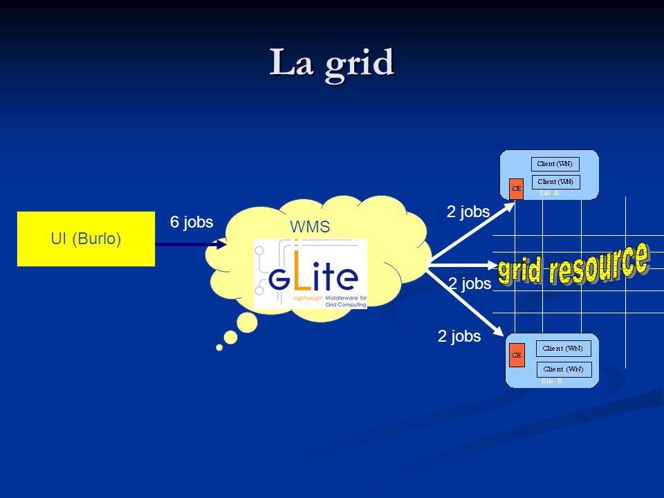 La grid UI (Burlo) WMS 6 jobs 2 jobs