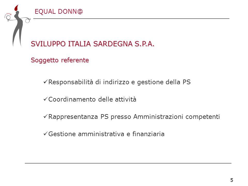 EQUAL DONN@ 5 SVILUPPO ITALIA SARDEGNA S.P.A.