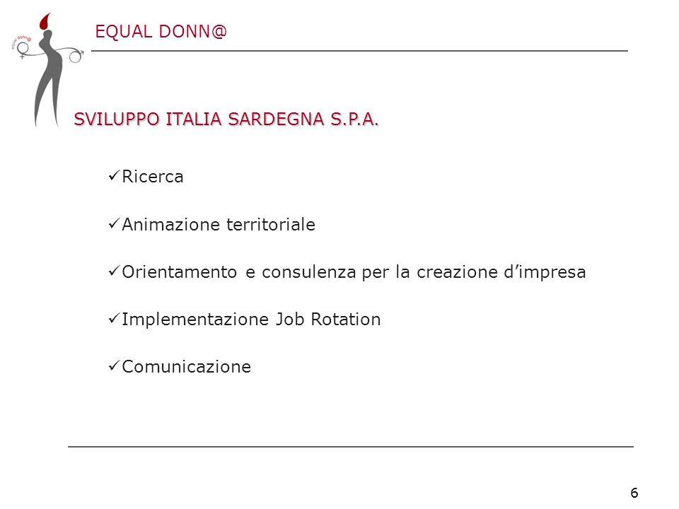 EQUAL DONN@ 6 SVILUPPO ITALIA SARDEGNA S.P.A.