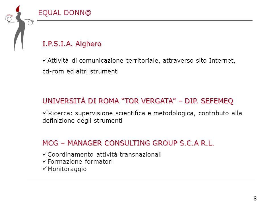 EQUAL DONN@ 8 I.P.S.I.A.