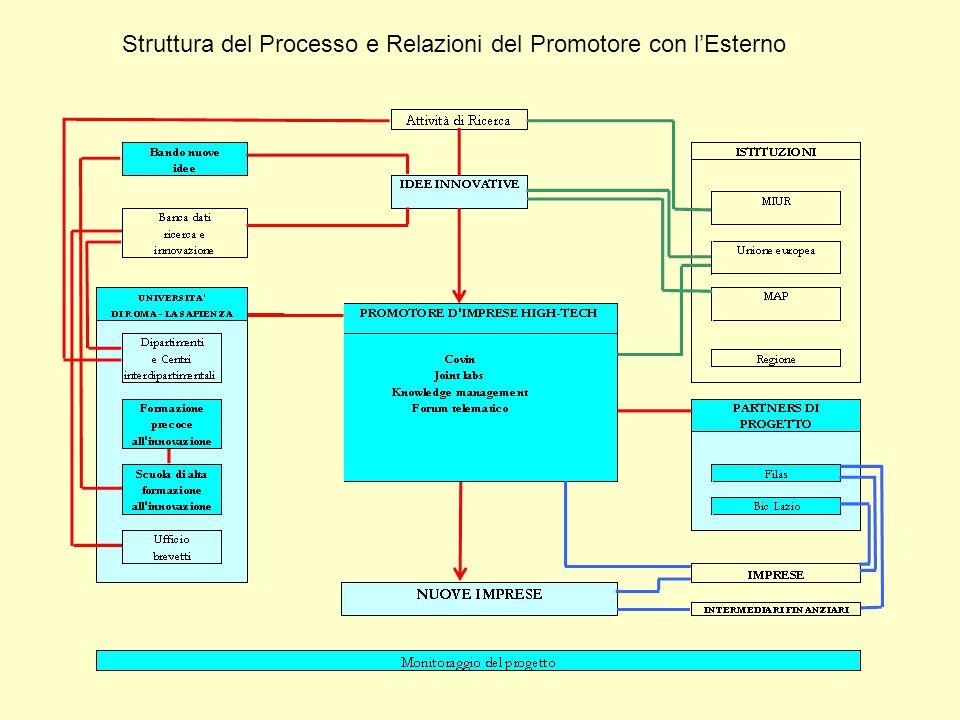 Struttura del Processo e Relazioni del Promotore con l'Esterno