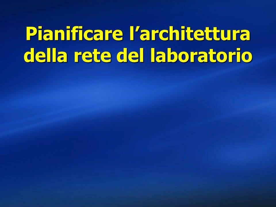 Pianificare l'architettura della rete del laboratorio