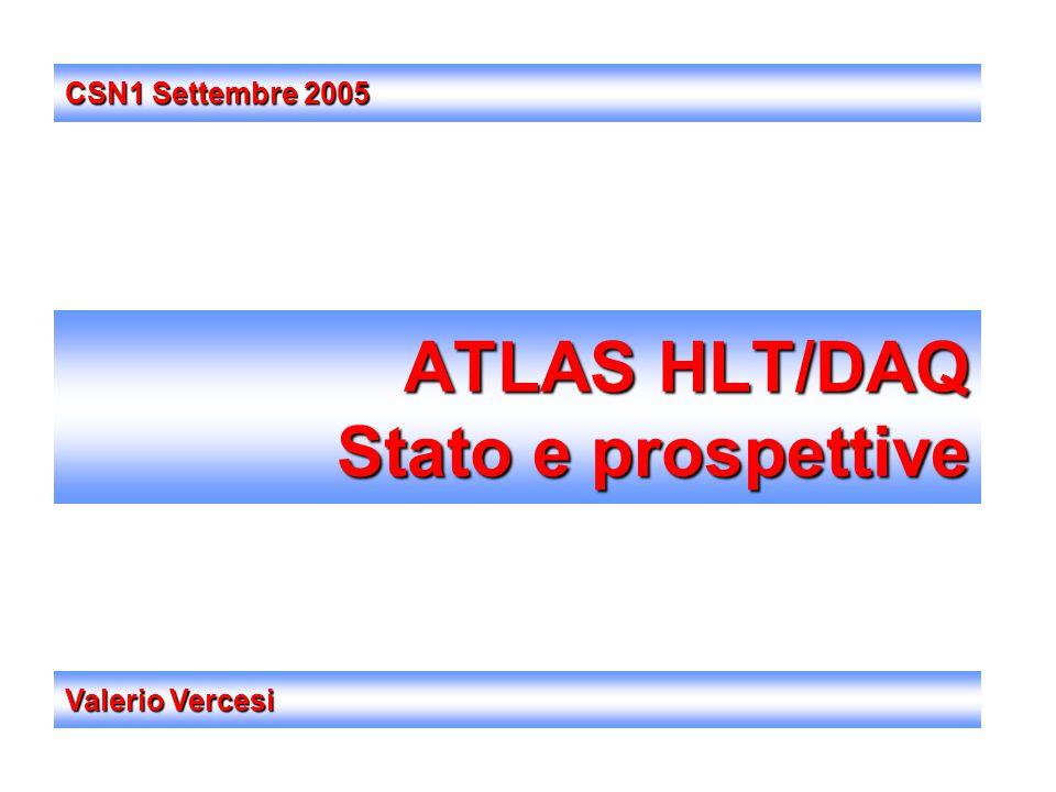 ATLAS HLT/DAQ Stato e prospettive Valerio Vercesi CSN1 Settembre 2005