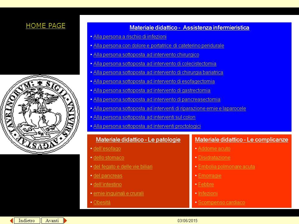 Indietro Avanti 03/06/2015 Assistenza infermieristica alla persona con dolore http://medtriennaliao.campusnet.unito.it/didattica/att/8fff.0103.file.ppt HOME PAGE 2° A.A.
