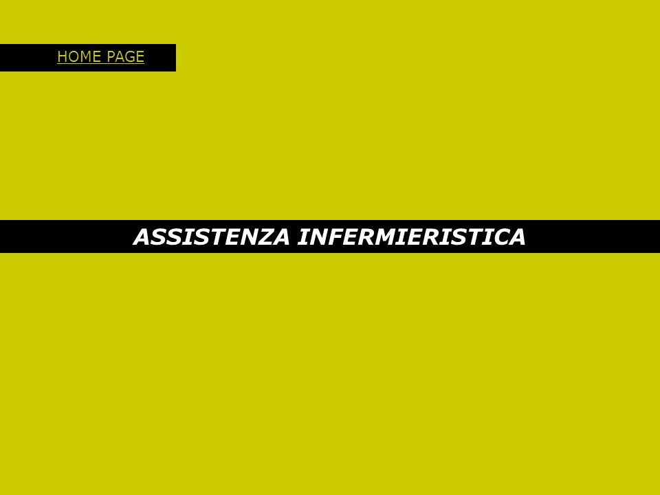 ASSISTENZA INFERMIERISTICA HOME PAGE