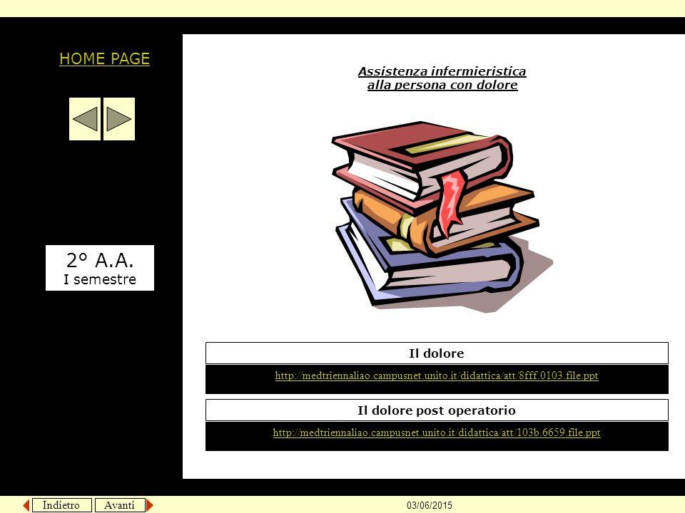 Indietro Avanti 03/06/2015 Assistenza infermieristica alla persona con dolore http://medtriennaliao.campusnet.unito.it/didattica/att/8fff.0103.file.pp