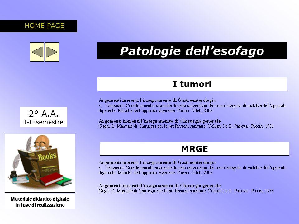 Patologie dello stomaco 2° A.A.