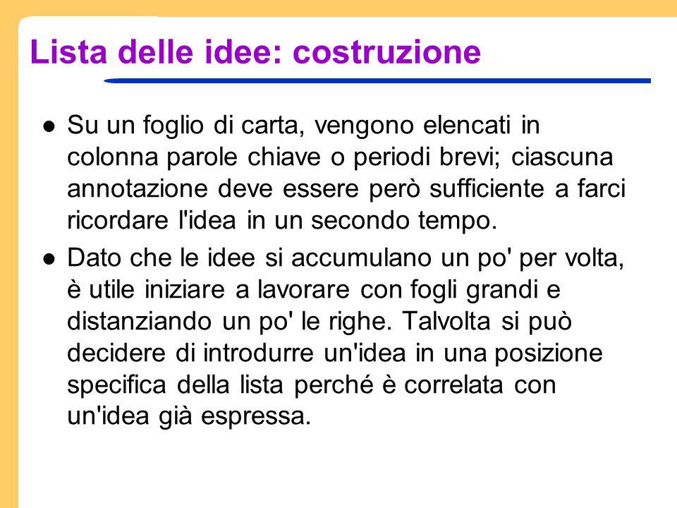 Lista delle idee: esempio Siete un giornalista straniero e dovete scrivere per una rivista del vostro paese un articolo dal titolo: L Italia e gli extracomunitari .