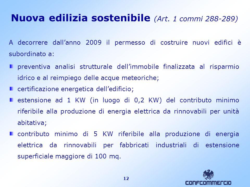 12 Nuova edilizia sostenibile (Art.
