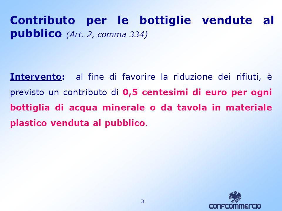 3 Contributo per le bottiglie vendute al pubblico (Art.