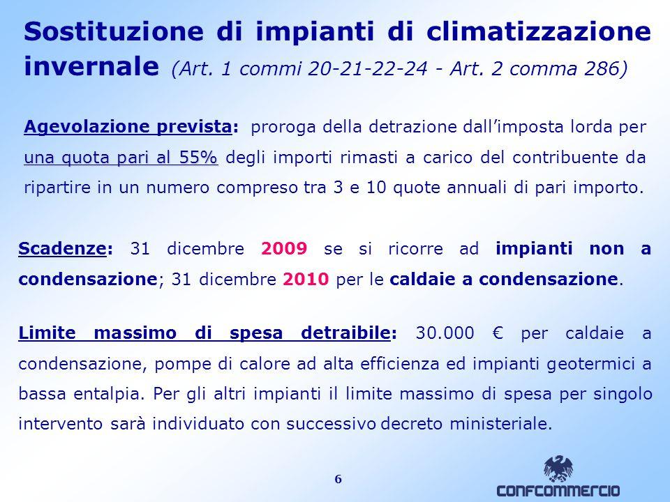 6 Sostituzione di impianti di climatizzazione invernale (Art.