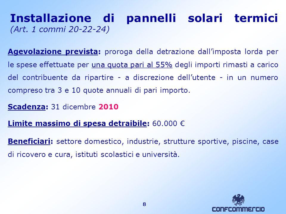 8 Installazione di pannelli solari termici (Art.