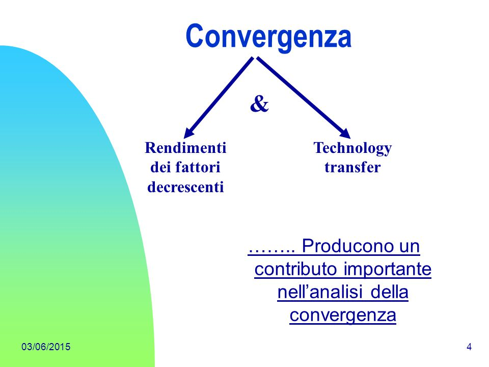 03/06/20155 It would be interesting, and perhaps valuable for policy purposes, to know how much of the conditional convergence effect is due to technological catching-up.