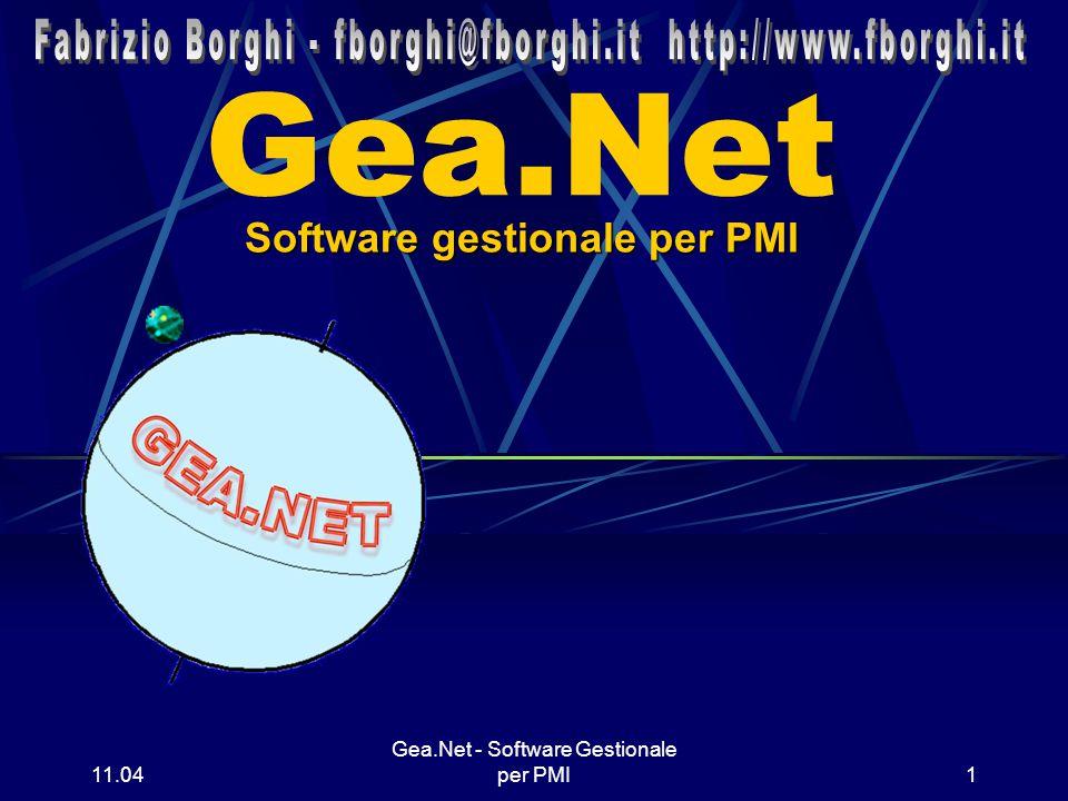 11.06 Gea.Net - Software Gestionale per PMI1 Gea.Net Software gestionale per PMI