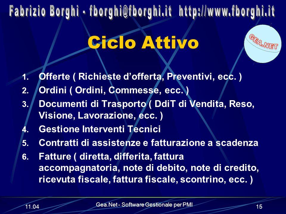 11.06 Gea.Net - Software Gestionale per PMI 15 Ciclo Attivo 1.