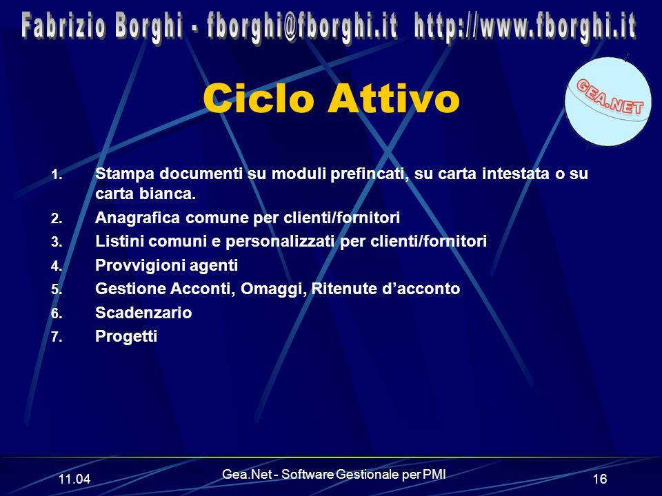 11.06 Gea.Net - Software Gestionale per PMI 16 Ciclo Attivo 1.
