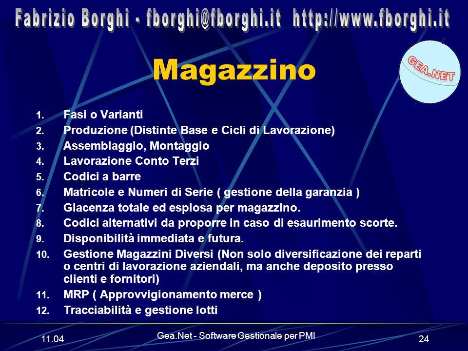 11.06 Gea.Net - Software Gestionale per PMI 24 Magazzino 1.