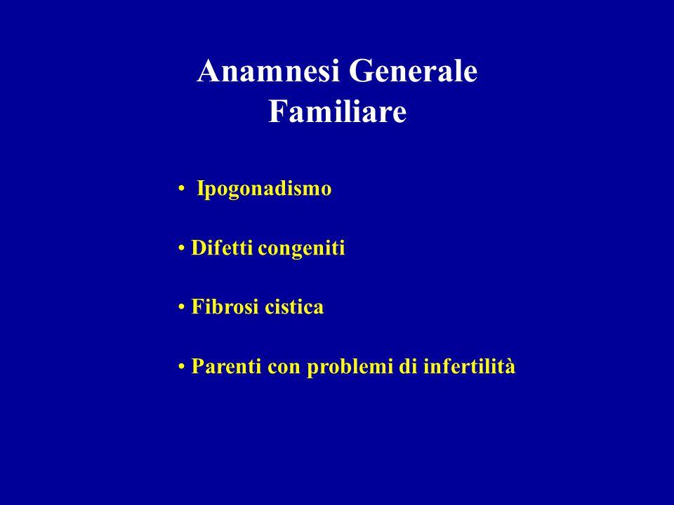 Valutazione Clinica -Anamnesi - generale - sessuale Esame Obiettivo - Esame Obiettivo - generale - genitale