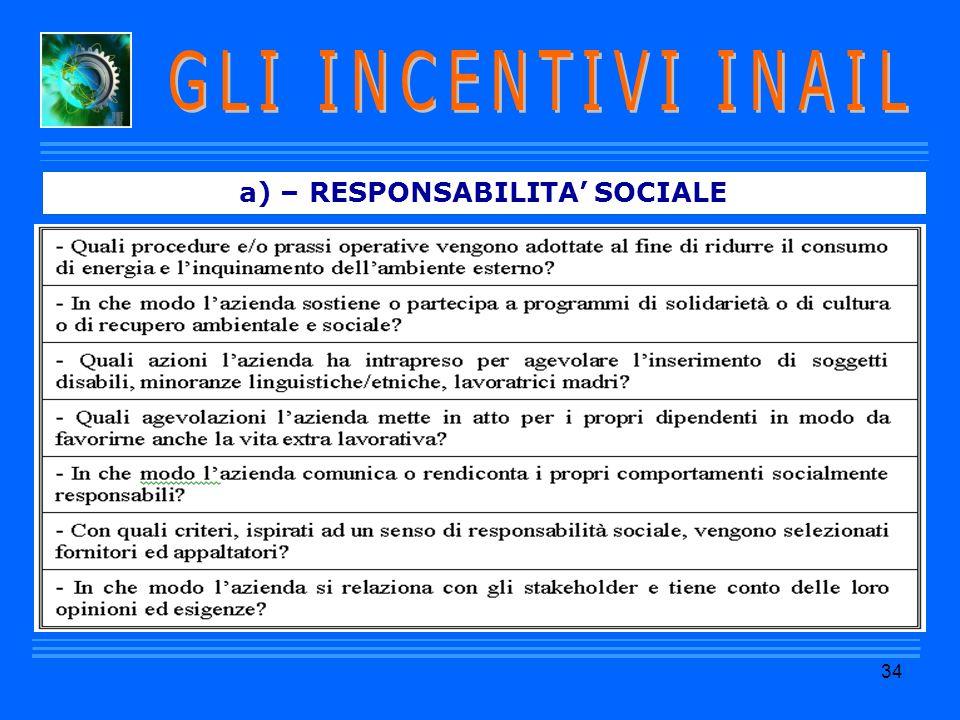 a) – RESPONSABILITA' SOCIALE 34