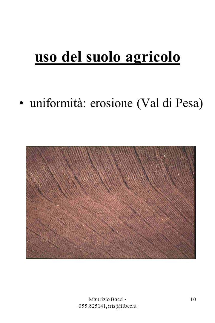 Maurizio Bacci - 055.825141, iris@ftbcc.it 10 uso del suolo agricolo uniformità: erosione (Val di Pesa)