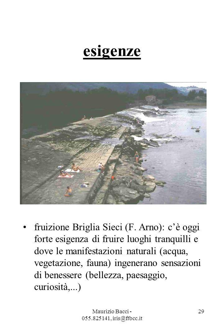 Maurizio Bacci - 055.825141, iris@ftbcc.it 30 IL FIUME RECUPERATO