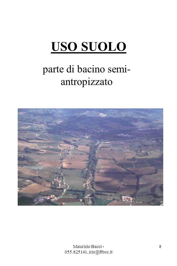 Maurizio Bacci - 055.825141, iris@ftbcc.it 8 USO SUOLO parte di bacino semi- antropizzato