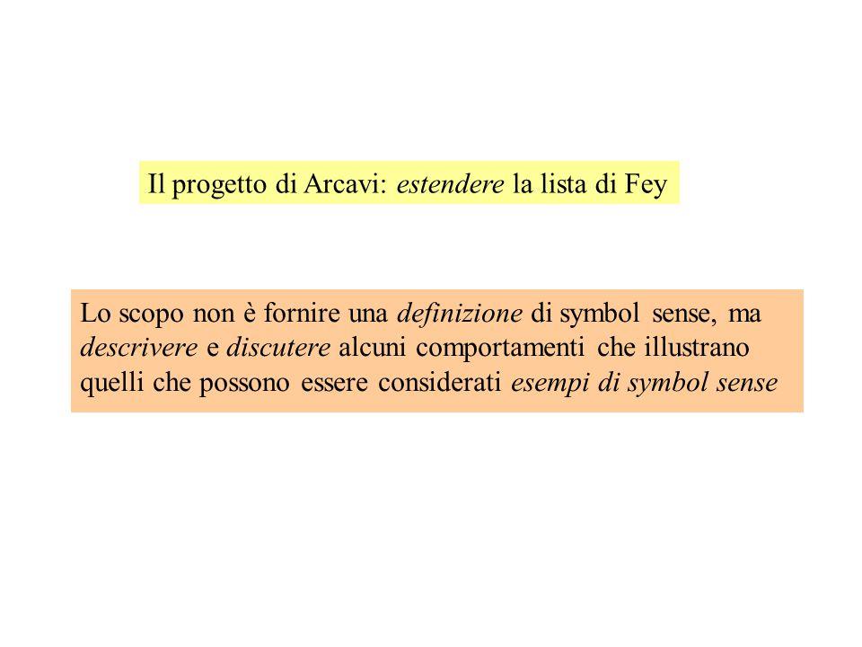 Una prima descrizione del symbol sense (da Fey, 1990) Lista di obiettivi ragionevoli per l'insegnamento dell'algebra: Essere in grado di prendere in c