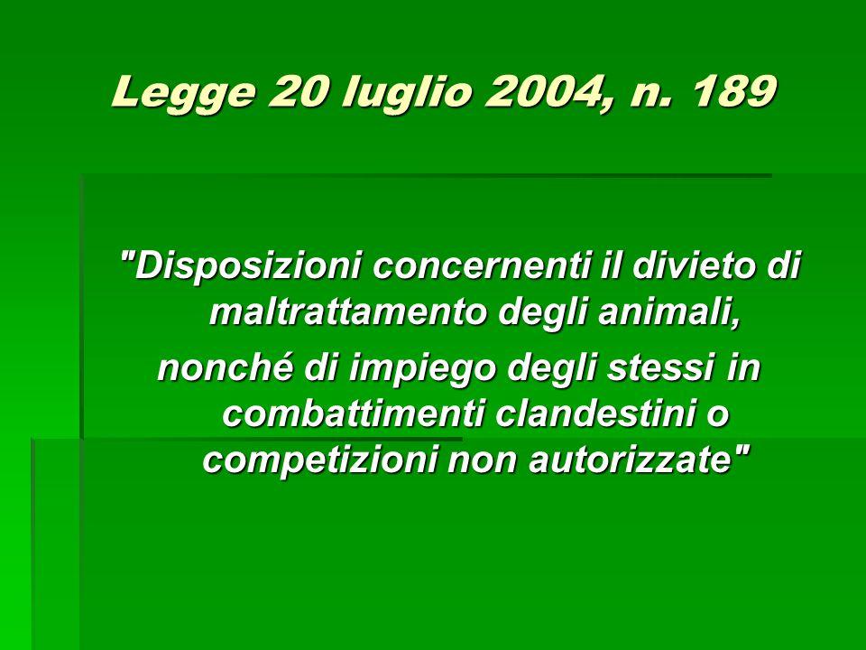 Legge 20 luglio 2004, n. 189