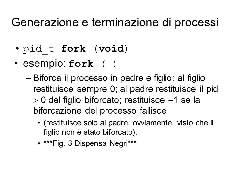 Sostituzione del programma in esecuzione exec –sostituisce i segmenti codice e dati (utente; non il segmento di sistema.