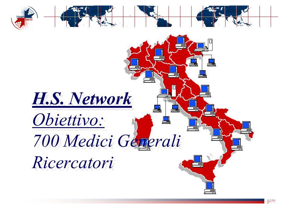 gcm H.S. Network Obiettivo: 700 Medici Generali Ricercatori