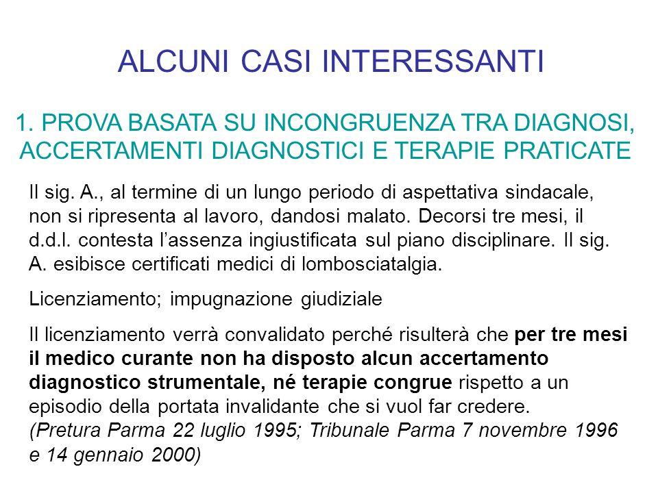 ALCUNI CASI INTERESSANTI 1.