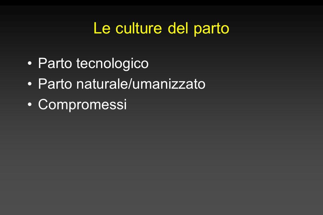 Le culture del parto Parto tecnologico Parto naturale/umanizzato Compromessi