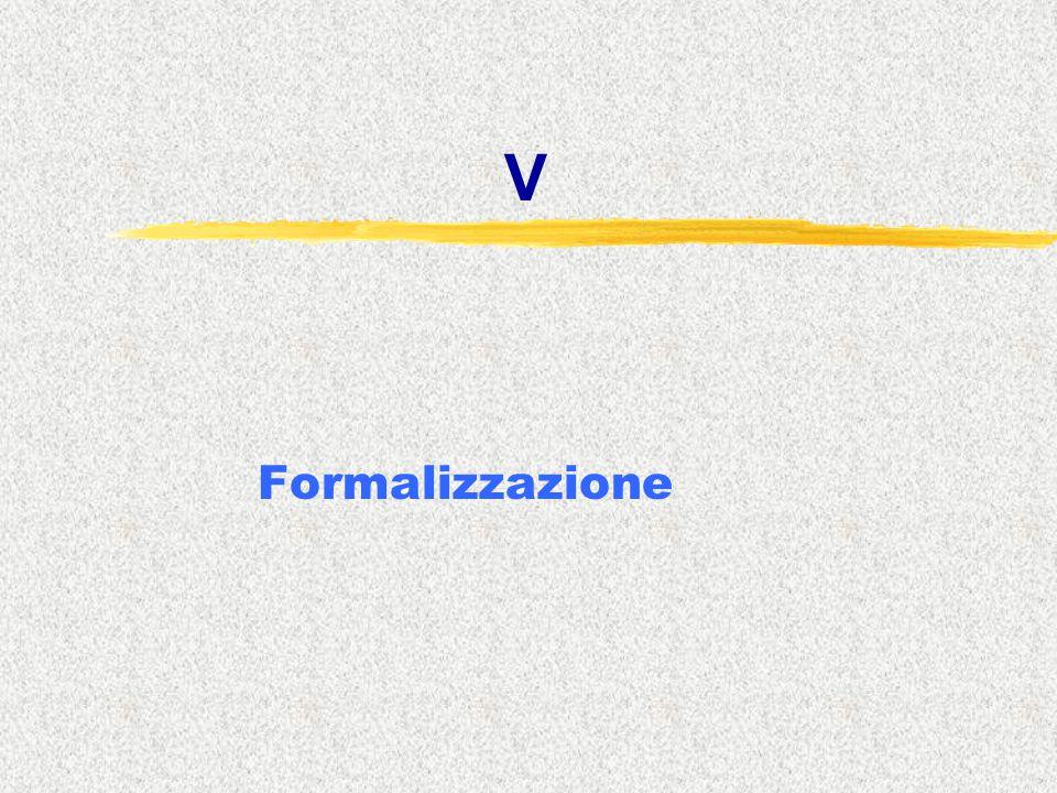 V Formalizzazione