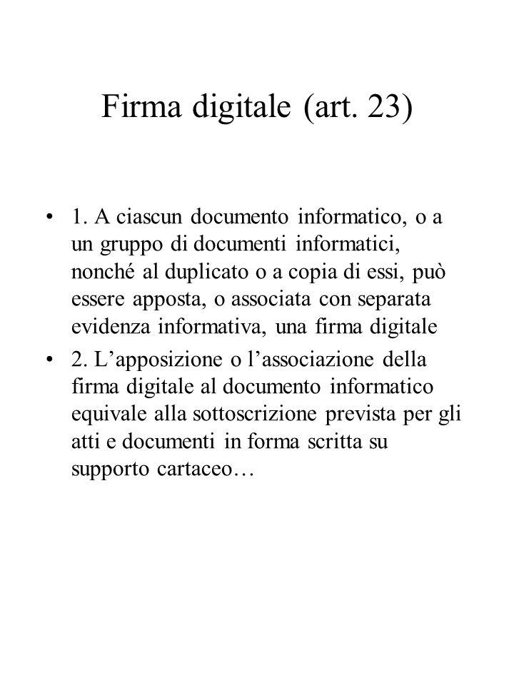 Firma digitale (art.23) 1.