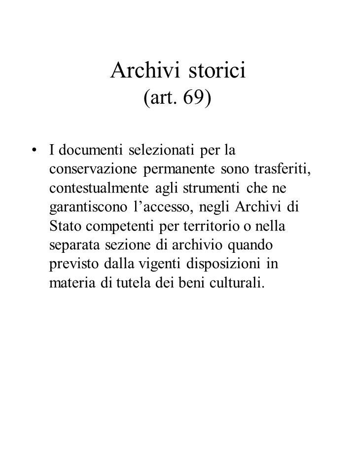 Archivi storici (art.